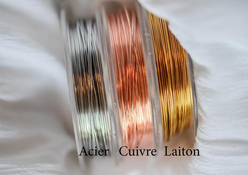 fil laiton cuivre acier